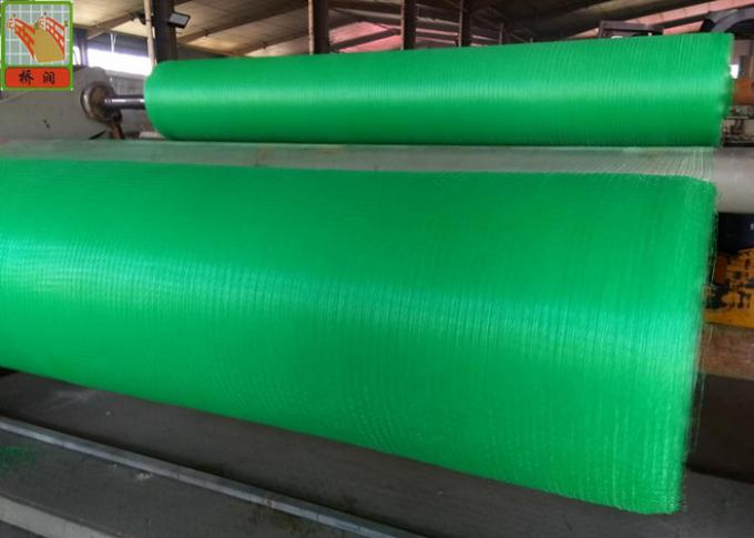 Green Square Polypropylene Mesh Screen For Erosion Control Blanket