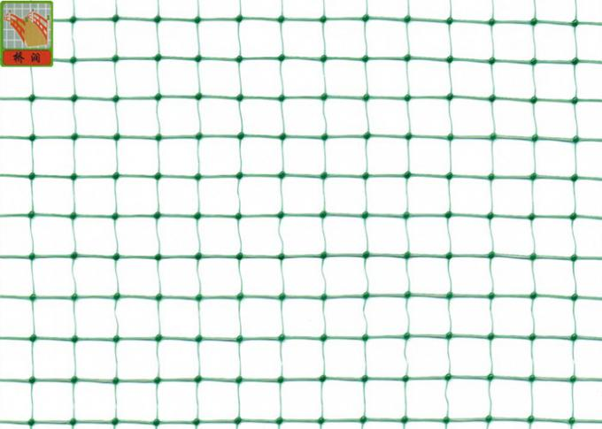 Green Garden Mesh Netting Polypropylene Bird Netting Hole Open 10mm * 12 Mm