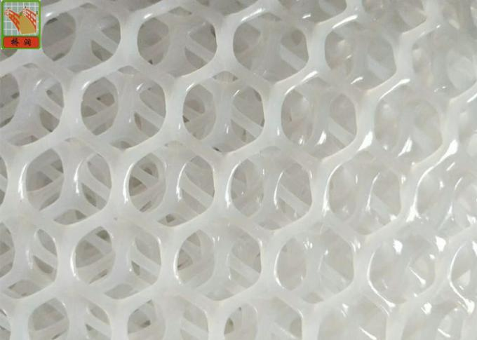 Hexagonal Extruded Plastic Netting HDPE Materials 100g - 1200g / Sqm Weight]