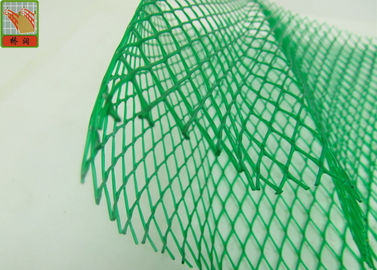 China HDPE Diamond Hole Extruded Plastic Netting , Green Protective Plastic Mesh Sleeve supplier