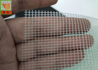 China Transparent Extruded Plastic Netting / PP Filter Netting For RO 2MM * 2MM Square Hole Size supplier