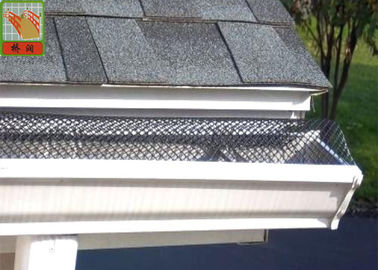 Precision Plastic Construction Netting / Plastic Gutter Screens Leaf Moss Guard Debris Protection
