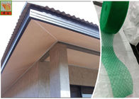 Green / Black HDPE Materials Soffit Vent Screen Mesh With Diamond Shaped Hole