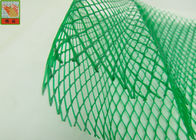 HDPE Diamond Hole Extruded Plastic Netting , Green Protective Plastic Mesh Sleeve