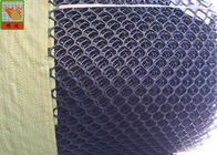 Black Hexagonal Extruded Plastic Netting , Temporary Plastic Poultry Fence