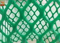 China Heavy Duty Plastic Construction Netting Green Color 40 Mm * 40 Mm Hole Size factory