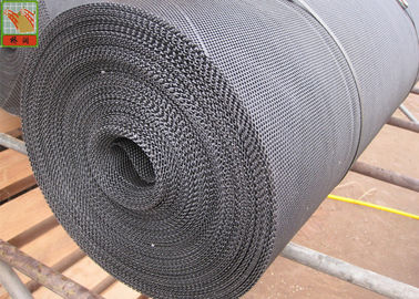 China High Tensile Strength HDPE Oyster Mesh Roll Black Color 25 Meters Length factory