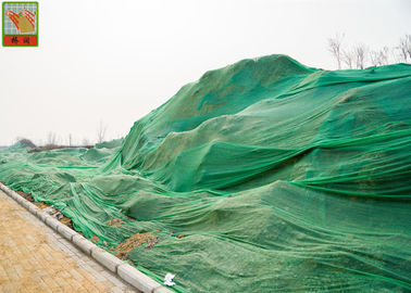 China Plastic Ground Netting Erosion Control / Soil Retention Netting Green Color factory