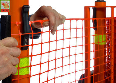China Strong Orange Plastic Construction Fence , Warning Barrier Fence PE Material factory