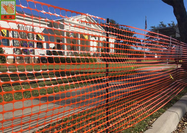 Safety Temporary Plastic Construction Netting / Orange Construction Barrier
