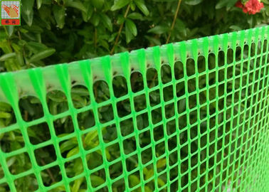 Plastic Garden Mesh Netting Fence , Garden Protection Netting Green Color